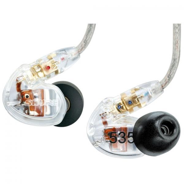 Casti profesionale in-ear Shure SE535-CL-E, cu 3 microdrivere HD si izolare fonica maxima