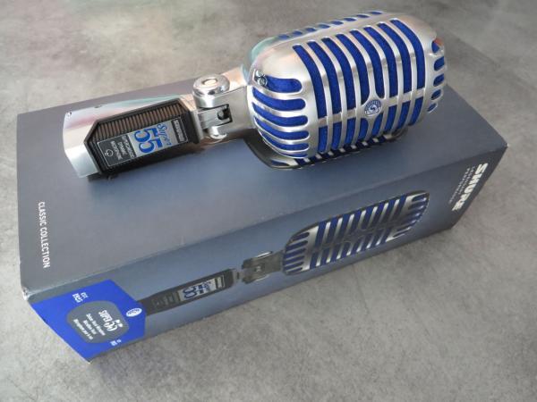 Microfon profesional  Shure SUPER 55 Deluxe cu design clasic