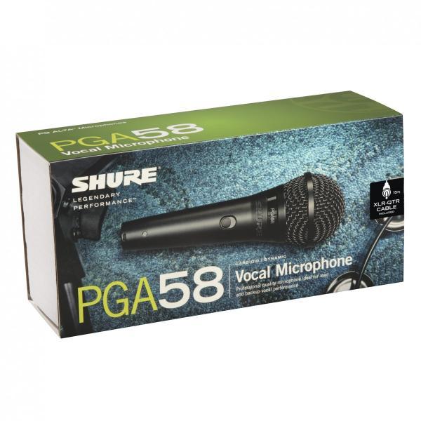 Microfon profesional dinamic cu fir Shure PGA 58, cardioid