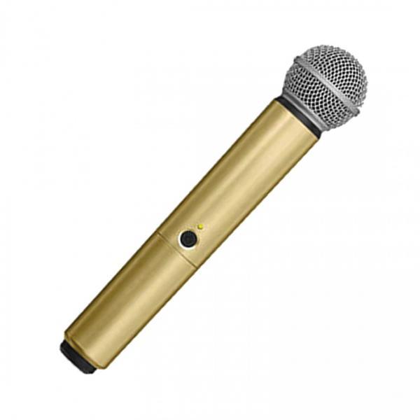 Carcasa de schimb pentru microfoane Shure BLX SM58/B58, aurie (gold) 4