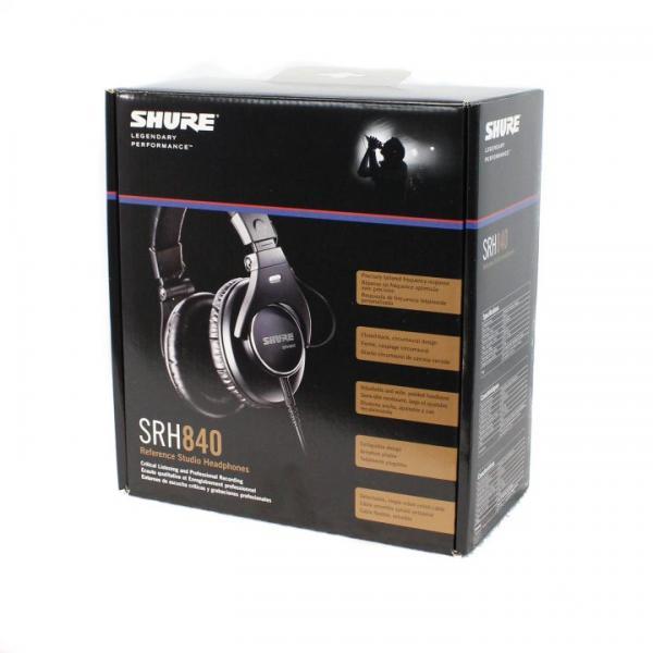 Casti profesionale Shure SRH840-E, tehnologie closed-back 5