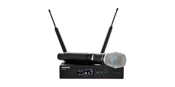 Microfon wireless Shure QLXD24/B87C, original, microfon si receiver
