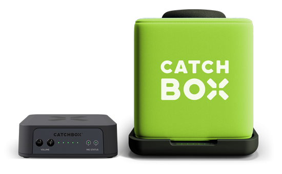 Microfon wireless CatchBox Plus, pentru conferinte de 1000 persoane, culoare verde 3