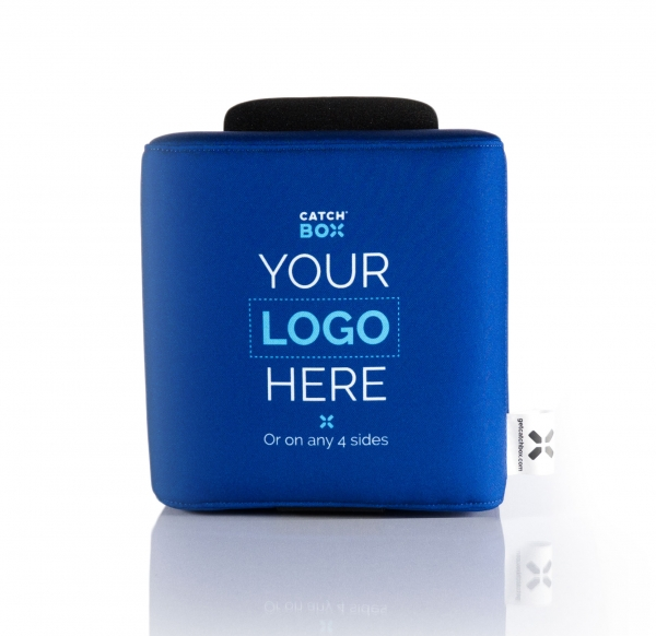 Microfon wireless CatchBox Lite, pentru conferinte de 100 persoane, culoare albastra 2