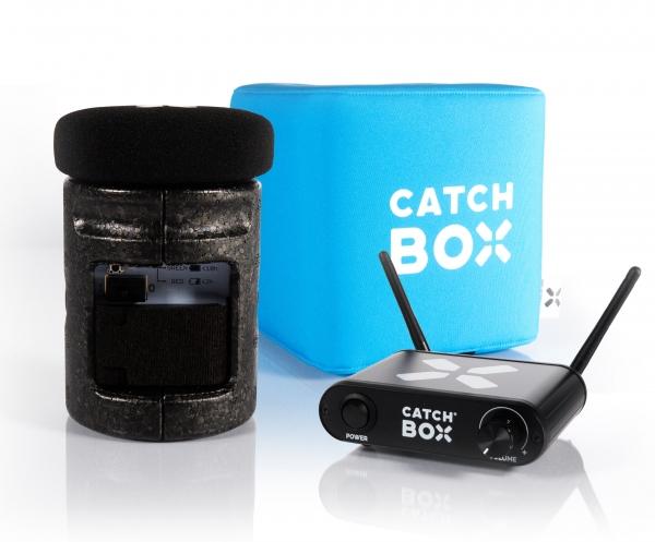 Microfon wireless CatchBox Lite, pentru conferinte de 100 persoane, culoare albastra 0