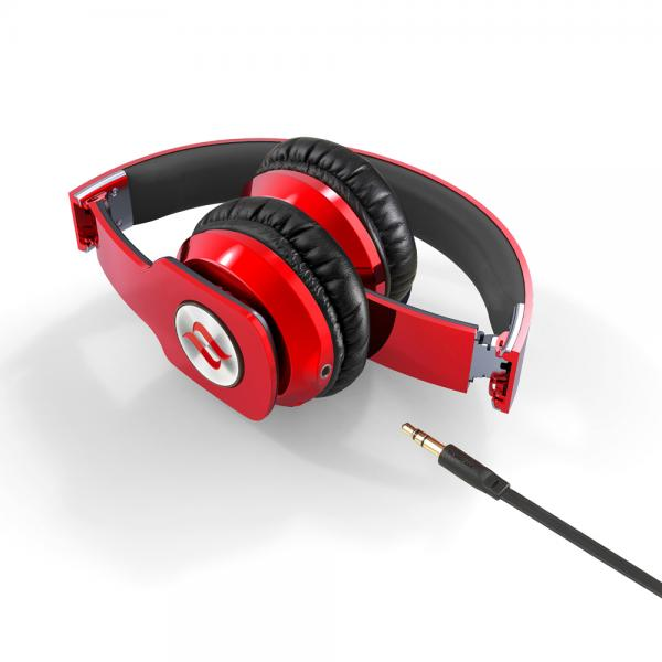 Casti audio over-ear Noontec Zoro HD MF3120R, red