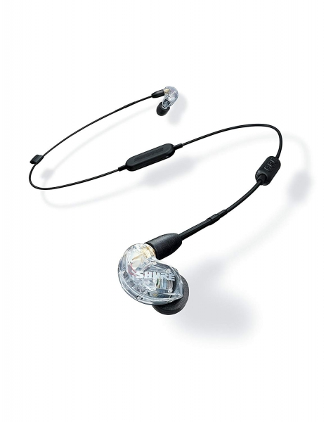 Casti profesionale in-ear Shure SE215-CL-BT1-EFS,  Bluetooth, Wireless, cu super izolare fonica, transparent 0