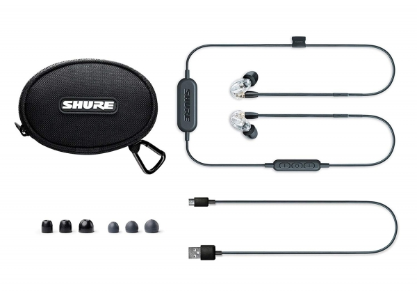 Casti profesionale in-ear Shure SE215-CL-BT1-EFS,  Bluetooth, Wireless, cu super izolare fonica, transparent 2