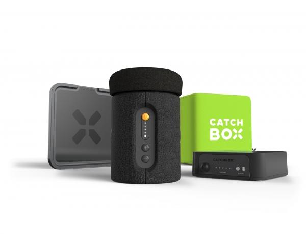 Microfon wireless CatchBox Plus, pentru conferinte de 1000 persoane, culoare verde 2