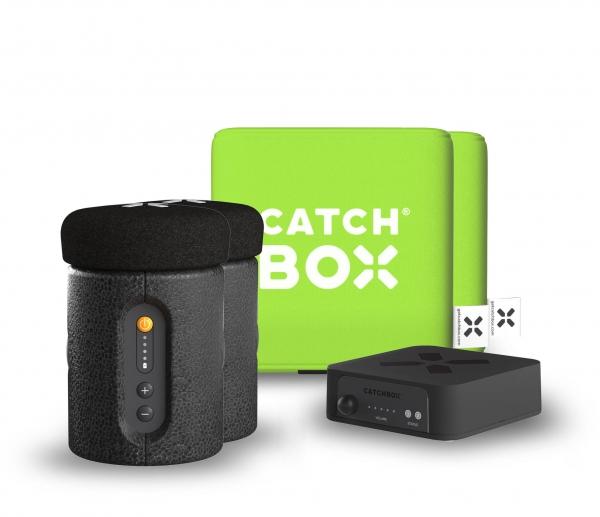 Microfon wireless CatchBox Plus, pentru conferinte de 1000 persoane, culoare verde 1