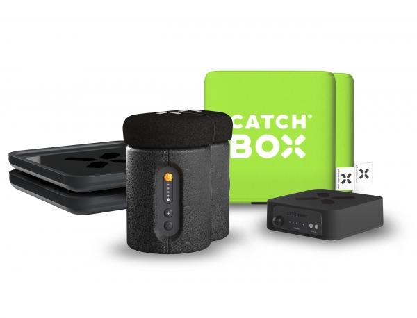 Microfon wireless CatchBox Plus, pentru conferinte de 1000 persoane, culoare verde 0