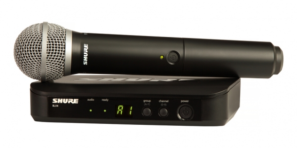 Sistem profesional wireless original Shure BLX24/PG58, microfon si receiver